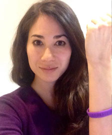 Woman wearing pancreas support bracelets