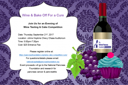 Wine & Cake Competition For A Cure @ Johns Hopkins Chevy Chase Auditorium | Baltimore | Maryland | United States