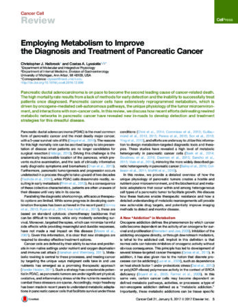 Employing Metabolism To Improve The Diagnosis And Treatment