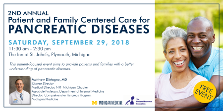 2nd Annual Patient and Family Centered Care for Pancreatic Diseases - Michigan Chapter @ The Inn at St. John's | Plymouth | Michigan | United States