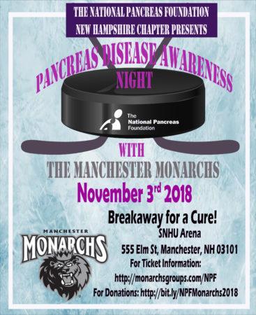 Pancreas Awareness Night @ Manchester Monarchs @ SNHU Arena | Manchester | New Hampshire | United States