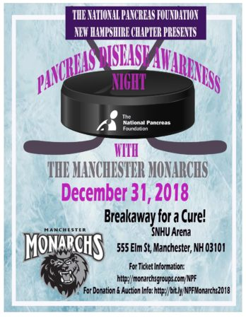 Pancreas Awareness Night @ Manchester Monarchs @ SNHU Arena | Manchester | New Hampshire | United States