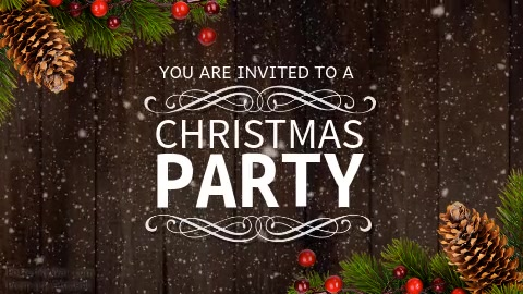 Christmas Facebook Cover.Christmas Party Facebook Cover Video Poster Template