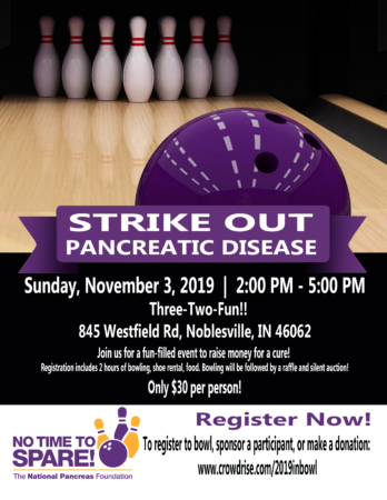 Strike Out Pancreatic Disease - Indiana @ Three, Two, Fun!