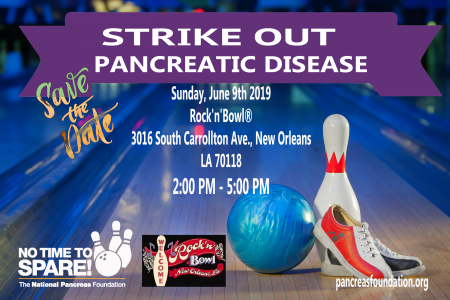 Strike-Out Pancreatic Disease - Louisiana @ Rock 'n' Bowl