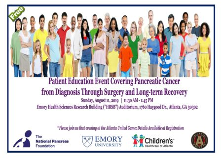 Pancreatic Cancer Patient Education Event - Georgia @ Emory Health Sciences Research Building