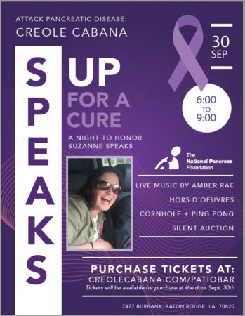 Attack Pancreas Disease: Creole Cabana Speaks Up for a Cure @ Creole Cabana Restaurant and Bar