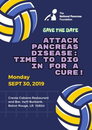 Attack Pancreas Disease: Time to Dig in for a Cure! @ Creole Cabana Restaurant and Bar