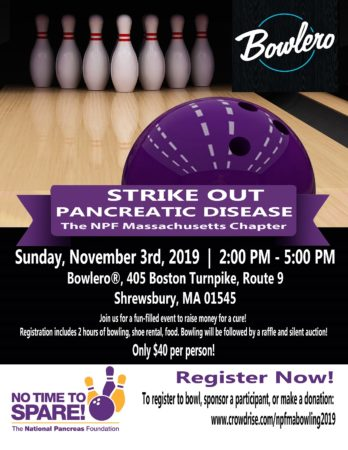NPF MA Chapter - Strike-Out Pancreatic Disease! @ Bowlero