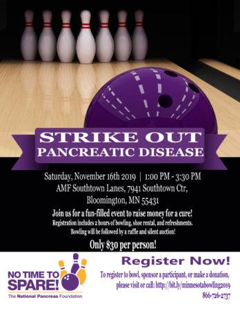 Strike-Out Pancreatic Disease Minnesota! @ AMF Bloomington