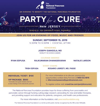 Party for a Cure New Jersey @ Biagio's Ristorante