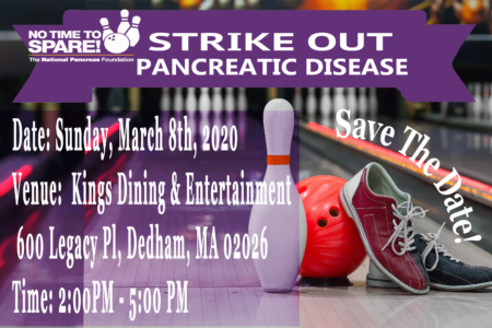 Strike-Out Pancreatic Disease! @ Kings Dining & Entertainment