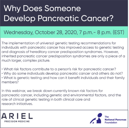 Virtual Education Event | Why Does Someone Develop Pancreatic Cancer?